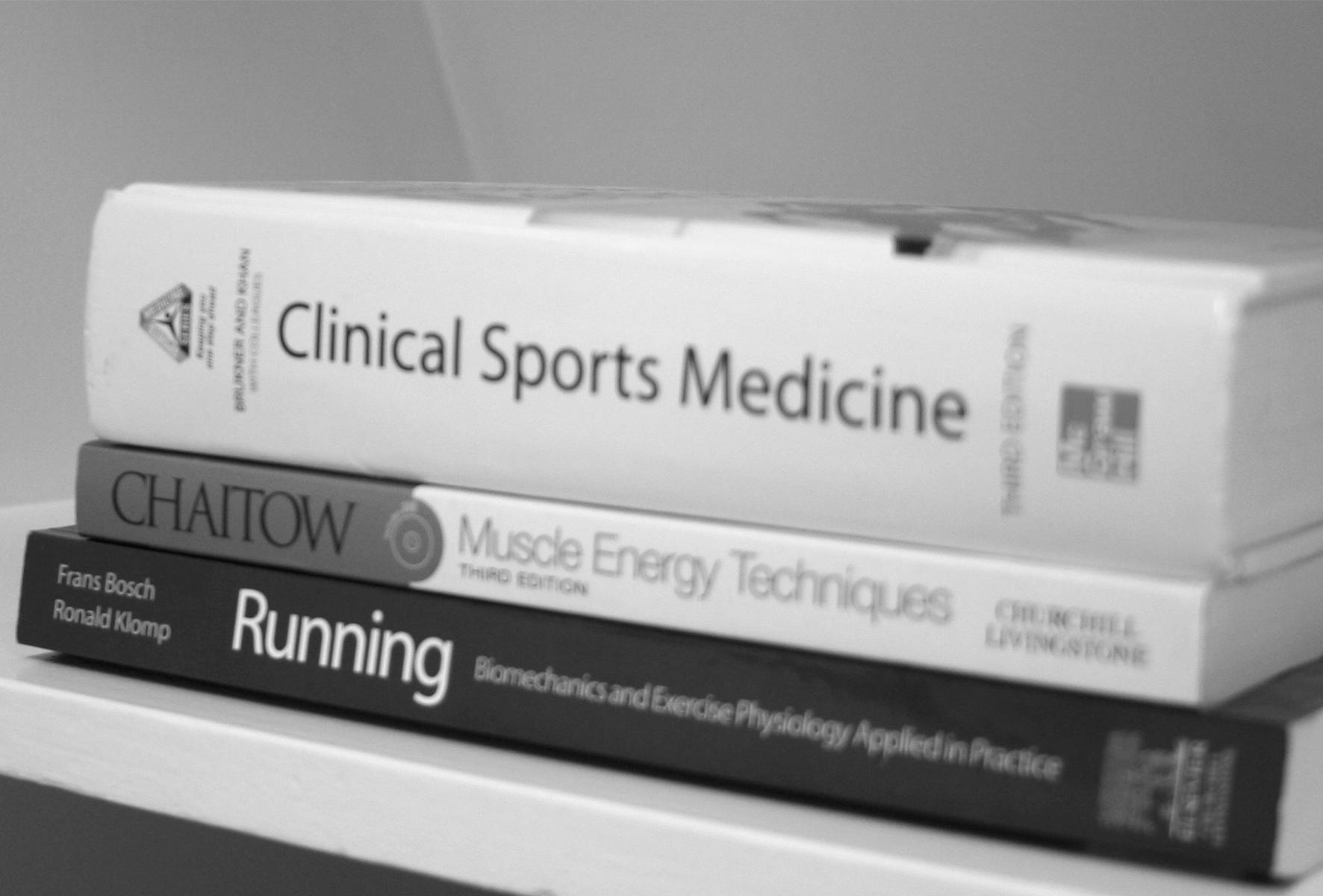 bøger på klinikken